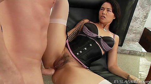 Hairy anal sex with lingerie milf in stockings Dana Vespoli