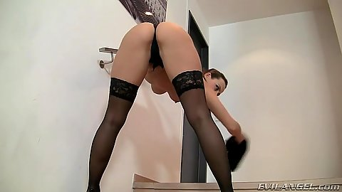 Solo bending over with girl Mea Melone