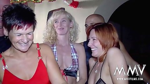 Petra S and Nicole L and Petra C orgy swingers clut fuck