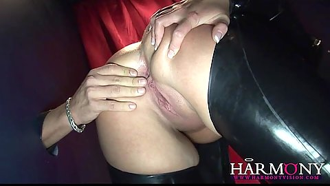 Glory hole and shaved pussy spreading sucking Donna Marie