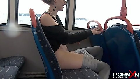 Girl pulls her pants down that she pissed herself in public
