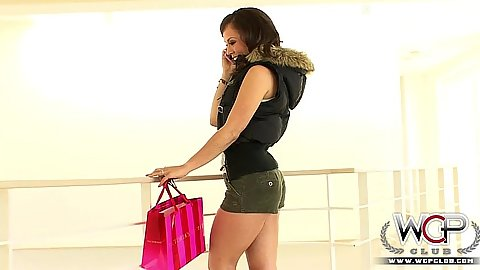 Fully clothed skinny white girl gets changed Kristina Rose