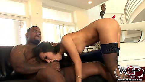 Medium tits petite asian gets pumped interracial Asa Akira