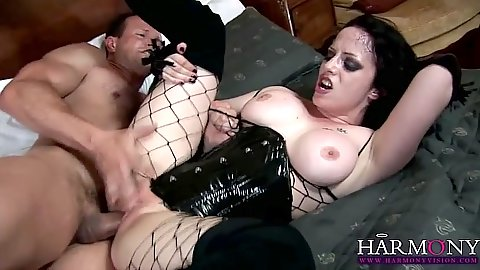 Naughty goth Rose Sasha fucked wearing her lovely lingerie set