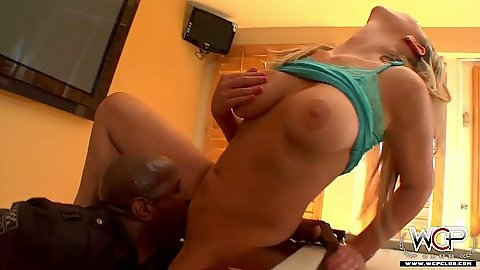 Brutal pussy licking and interracial blowjob Abbey Brooks