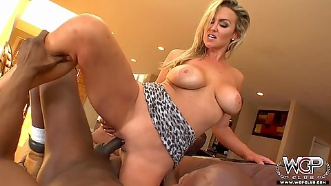 Abbey Brooks sits on cock then brutabl fucking