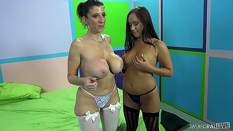 Big tits milf Sara Jay and Holly Hudson attack cock