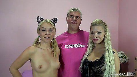 Blonde Aaliyah Love and Bibi Noel like blonde threesomes
