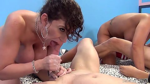 Perfect cock sucking sluts with Sara Jay and Ava Devine getting cum unloaded right on face