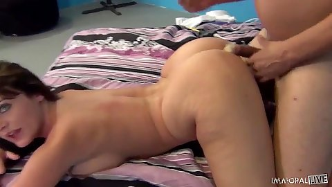 Sophie Dee fucked from behind and washes down her juices Sophie Dee
