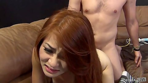 Doggy style and blowjob with perky tits asian whore Kim Blossom