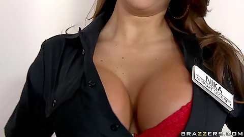 Big tits Airport security check