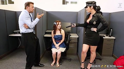 Sex craved uniform college campus security suck Jayden Jaymes