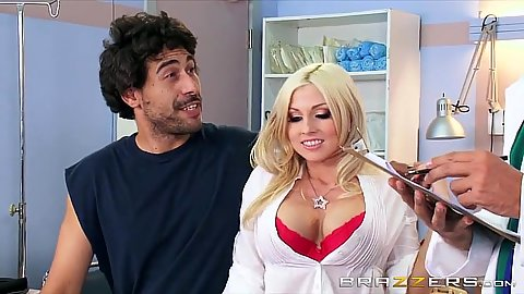 Doctor visit with Christie Stevens getting touched in front of hubby