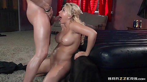 Oil big tits fucking around with dirty massage Kagney Linn Karter