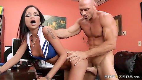 Prom whore cheerleader hottie fucks in office Raven Bay