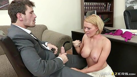 Big tits and titty fuck with office sex Krissy Lynn