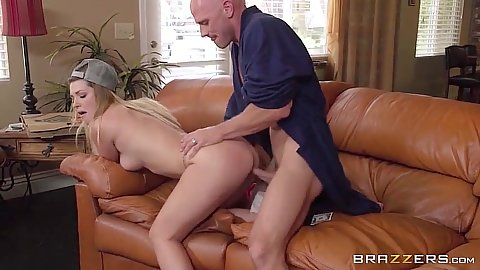 Doggy style natural boobs sex and ass fingering girl Jenna Ashley