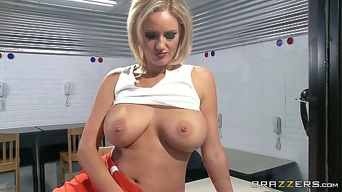 Great tits in prison milf visit Zoey Holiday