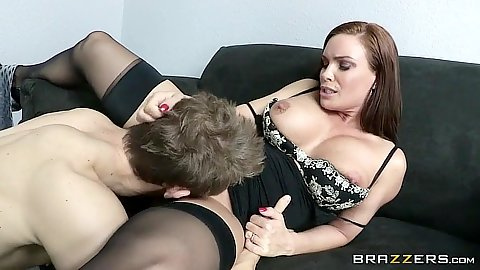 Milf lingerie pussy eating and cock sucking Diamond Foxxx