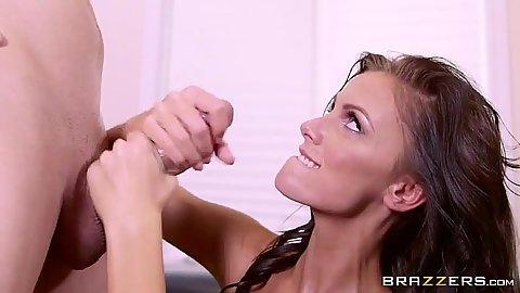 Blowjob and footfuck with horny Whitney Westgate