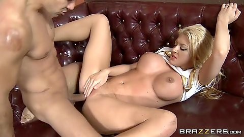 Sailor girl Leya Falcon gets laid in the restaurant