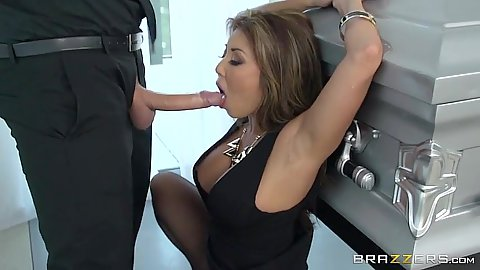 Akira Lane asian just lets that dick roam in her mouth