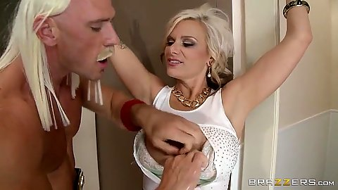 Blonde milf Kate Frost gets super boxer cock