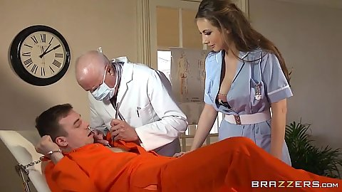 Doctor visit for a naughty prison patient Connie Carter