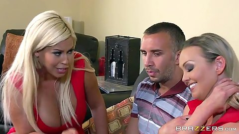 Blonde latina two on one with Bridgette B and Abbey Brooks