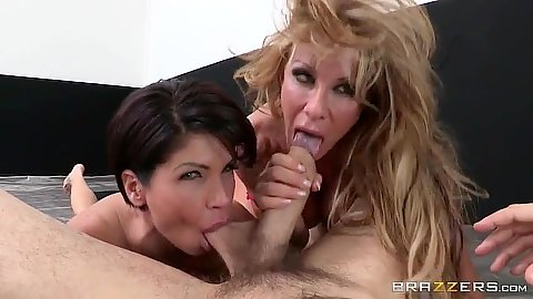 Saucy pov ball sucking sporty threesome with Farrah Dahl and Shay Fox