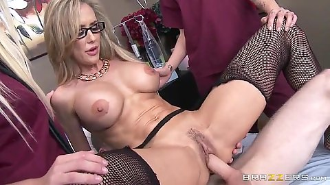 Doctors office fuck from fishnet Brandi Love