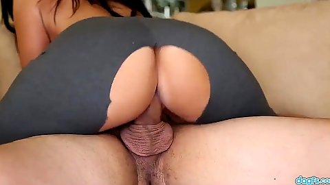 Ripped pants good looking latina Ava Alvarez rides shaft