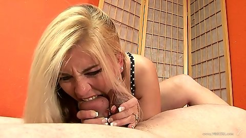 Cock biting and deep throating female Jocelyn