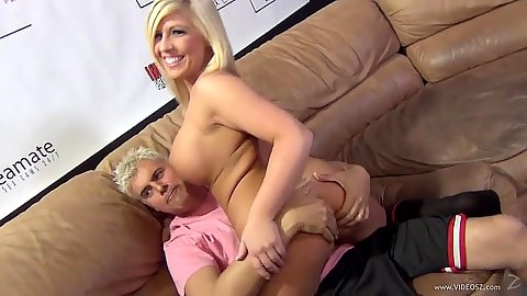 Smiling blonde Heidi Hollywood is a new girl in town
