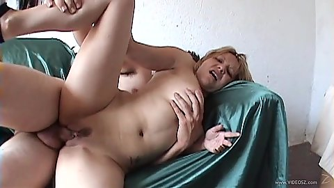 Breathtaking sideways amateur cock entry with Lisa