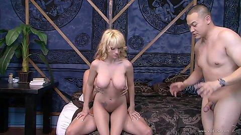 Scarlett Monroe milf in cuckold while husband jerks his own dick