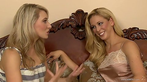 Blonde lesbian milf and teen fun Cherie Deville and Lilly Banks
