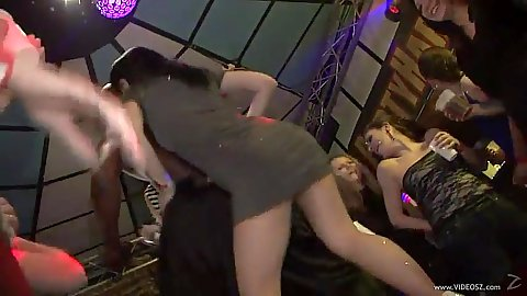 Dancing and kissing a male stripper with public party session