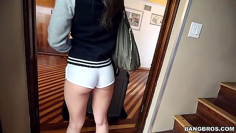 Tight ass hotpants on juicy Jamie Jackson