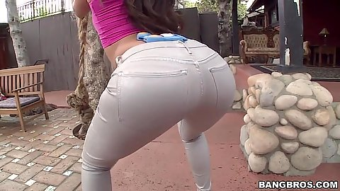 Sexy ass in tight pants with solo high heels girl Jynx Maze