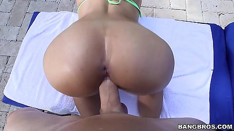 Awesome bikini ass pov view in the pool front sex Mia Khalifa