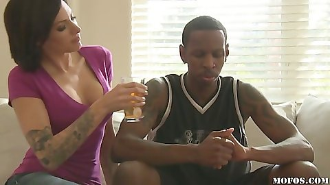 Juelz takes a liking for this sexy black cock