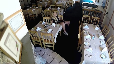 Restaurant voyeur hidden camera fucking the nice waitress Carmen Caliente