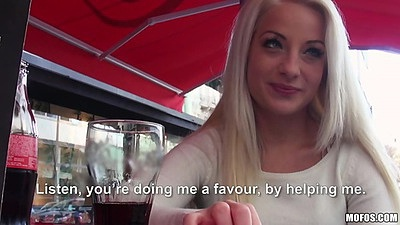 Public pickup with this casual girl Anastasia Blonde