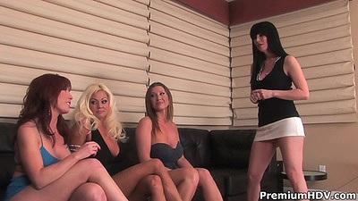 Tempting lesbian group of milfs Devon Lee and Nikita Von James and Rayveness