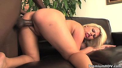 Black cock white girl doggy style thrusting of Heather Huntley