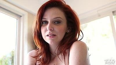 Redhead Emma Evans pov blowjob cutie