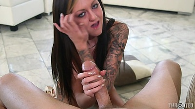 Delicious pov blowjob with tattoo arms girl Kendra Cole