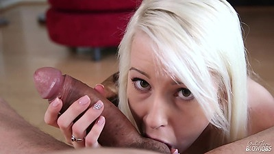 Licking balls and a blowjob with fresh new starlet Darcie Belle